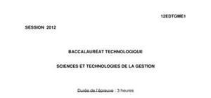 Sujet Économie-Droit Bac STG 2012