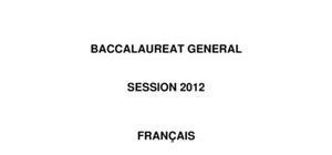 Sujet Français Bac L 2012