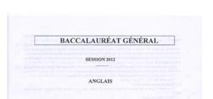 Sujet Anglais LV1 Bac S 2012