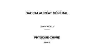 Sujet Physique-Chimie Bac S 2012