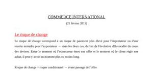 Le risque de change commerce international