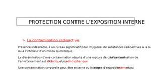 La protection contre l'exposition interne
