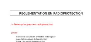 Réglementation en radioprotection