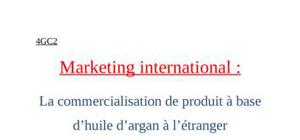 Marketing des huiles