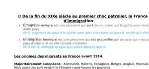 L'immigration française de 1850 à nos jours