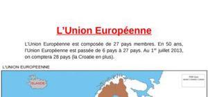 Carte : l'union européenne