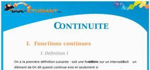 Continuité : Cours Terminale S