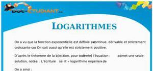 Cours Logarithmes : Terminale S