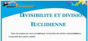 Divisibilité et division euclidienne : Cours Terminale S