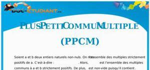 PPCM - Plus Petit Commun Multiple : Cours Terminale S
