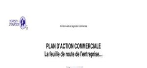 Plan d'actions commerciales - trame déroulante