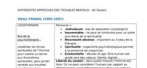 Fiches de révision psychologie clinique - troubles mentaux