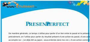 Exercice d'anglais sur le Present Perfect simple et -ing