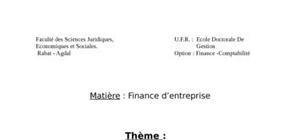 Structure financière et coût de capital