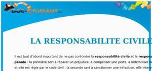 La Responsabilité Civile : Cours Droit Terminale STG