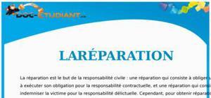 La Réparation en Droit : Cours Droit Terminale STG