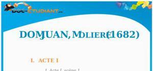 Résumé Don Juan de Molière - ES