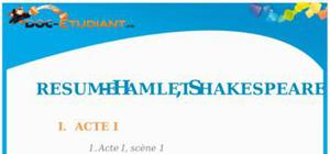 Résumé Hamlet de Shakespeare - ES