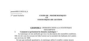 Statistique descriptif