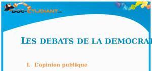 Les Débats de la Démocratie : Cours d'ECJS de Collège