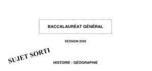 Sujet bac de géographie 2009