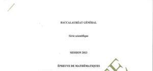 Sujet Maths Spécialité Washington 2013 : Bac S