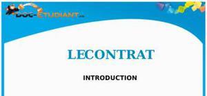 Introduction aux Contrats : Cours de Droit BTS