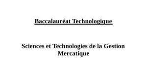 Sujet Mercatique STG