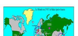 Carte: bilan de l'après-guerre en 1945