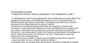 Commentaire de texte lettre à guillaume v