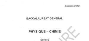 Sujet Bac S Physique-Chimie Pondichéry 2012