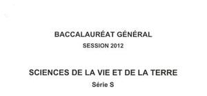 Sujet Bac S SVT Spé Washington 2012