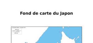 Fond de carte du Japon