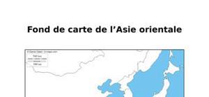Fond de carte de l'Asie orientale