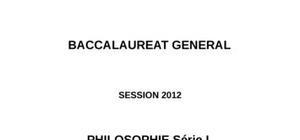 Sujet Philosophie L 2012