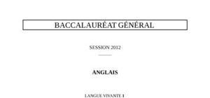 Sujet Anglais LV1 Bac L 2012