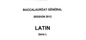 Sujet Latin Bac L 2012