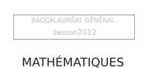Sujet Mathématiques Bac L 2012