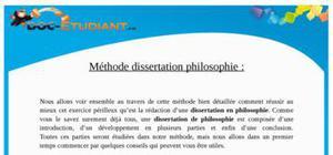 Méthodologie Dissertation de Philosophie