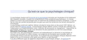 Qu'est-ce que la psychologie clinique?