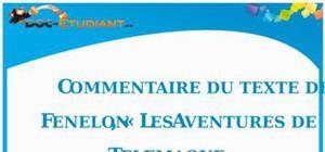 Commentaire de texte : « Les aventures de Télémaque » de Fénélon