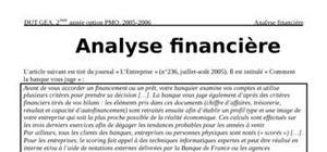 Analyse financière et rentabilité