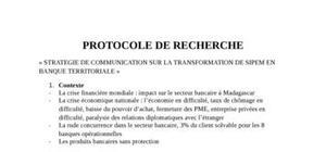 Protocole de recherche (irmad)