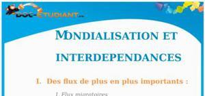 Mondialisation et Interdépendances : Cours Terminale S - L