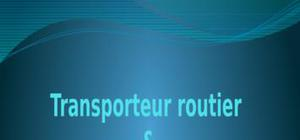 Transporteur routier: commerce international