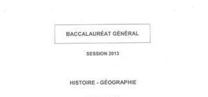 Sujet Histoire-Géographie Pondichéry 2013 : Bac ES