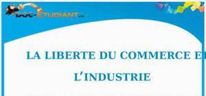 La Liberté du Commerce et de l'Industrie : Cours Droit Terminale STG