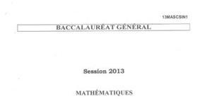 Sujet de Spécialité de Maths Pondichéry 2013 : Bac S