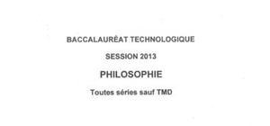 Sujets Philosophie Pondichéry 2013 : Bac STG