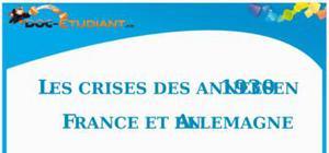Les Crises des Années 1930 en France et en Allemagne : Fiche de Révision Brevet
